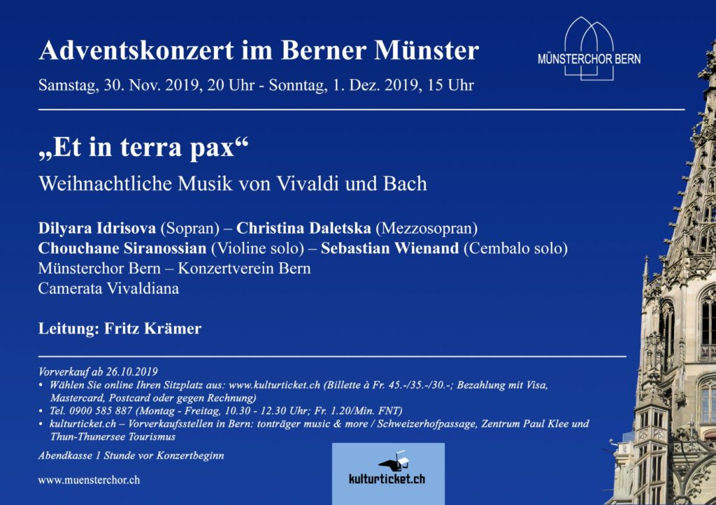 Münsterchor Bern Adventskonzert 2019